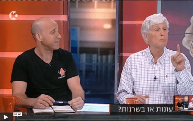ראיון בנושא טבעונות מול פליאו בתכנית הבוקר של אורלי וגיא בערוץ 10